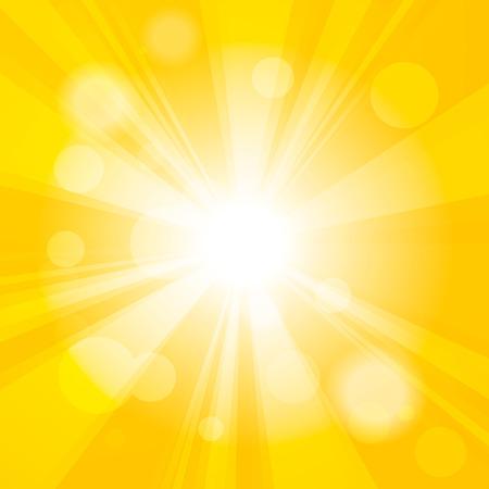 amarillo: De color amarillo brillante abstracta bokeh festivo efecto sol de fondo