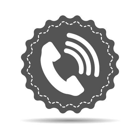 receiver: Telephone receiver vector icon on a white background
