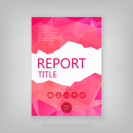 publisher: Abstract pink geometric Low Poly Style report cover Design