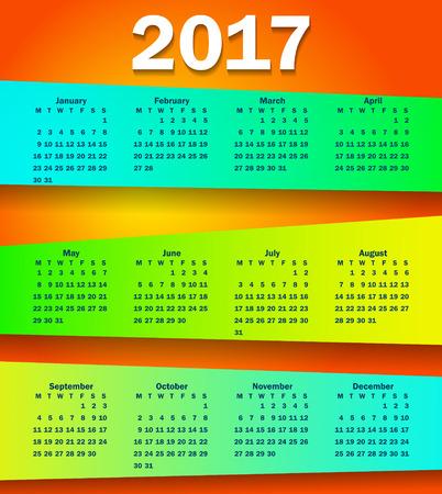 2017 calendar modern simple design