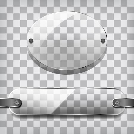 Transparency plates on the squared illustration. Illustration
