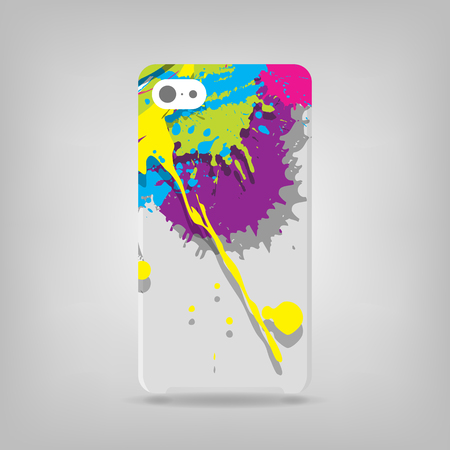 Cute grunge illustration on a phone case back