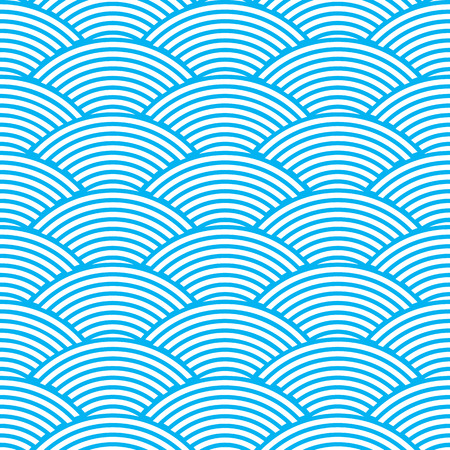 seamless waves abstract pattern Illustration