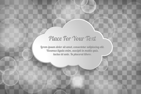 Beautiful sparkling abstract sylver light chequered background with text box cloud