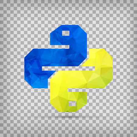 Python Icon isolated on chequered background. Trendy snake vector symbol for web site design or button to mobile app. Illustration
