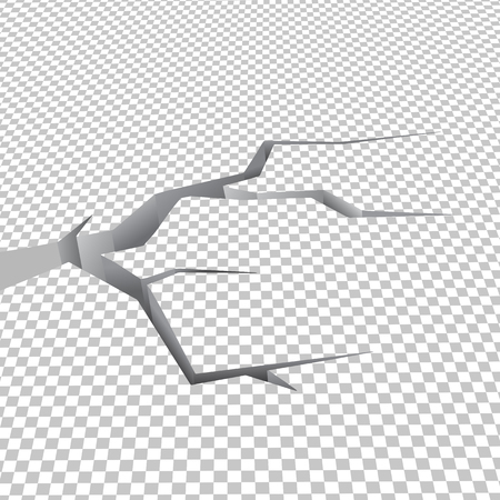 Rez-de-chaussée fissuré en damier illustré en vecteur