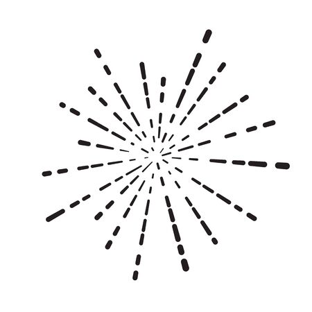 linear rays of firework, flash or sun illustration on a white background Banque d'images - 130588056