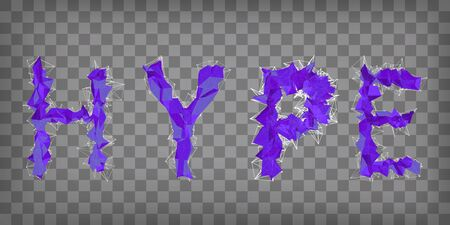 abstract vector ultraviolet modern triangular emblem of type HYPE on a chequered background 向量圖像