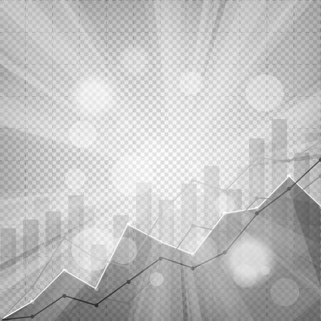 business statistics chart showing various visualization graphs on abstract festive bokeh flare effect chequered background