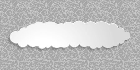 web network seamless grey background with white paper sticker cloud