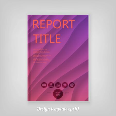 Abstract cover design with wonderful pink and purple gradient background, Brochure Report Design. Corporate Leaflet Template