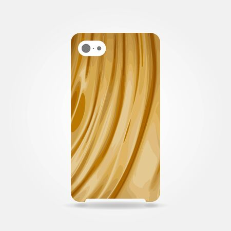 Abstract smooth golden cover phone case design