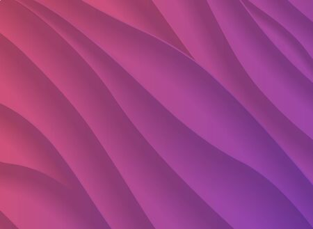 colorful sunset gradient 3d abstract background with paper cut shapes
