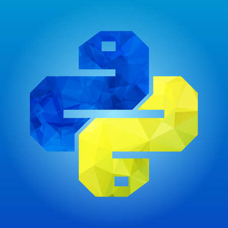 two snakes Icon isolated on blue background. Trendy boa vector symbol for web site design