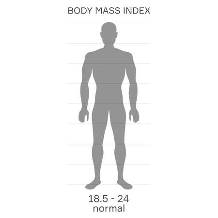 silhouette of proportional person with normal body mass index Vettoriali