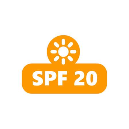 Sun Protection UV Index, SPF 20 sign