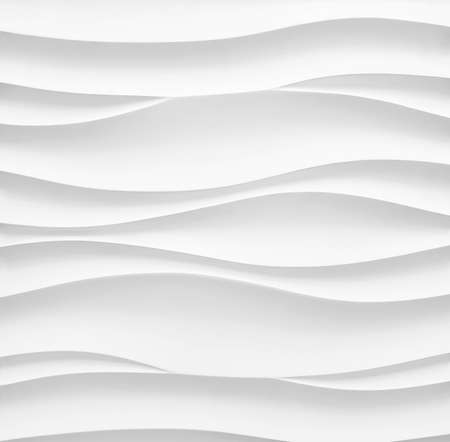 Wavy background. Interior wall decoration or panel pattern. white background of abstract waves.