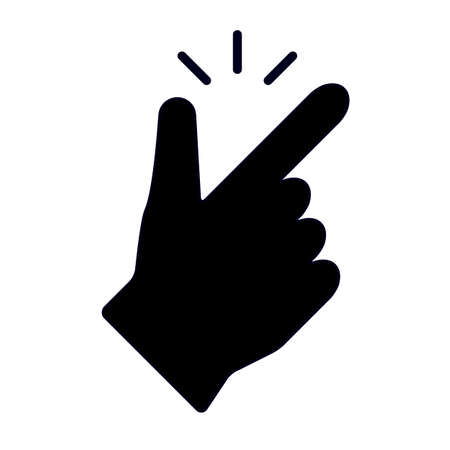 concept make flicking fingers. snap of the fingers icon. linear trend simple okey easy symbol