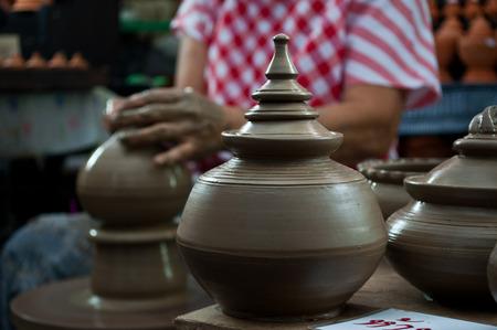 Pottery handicraft  in thailand