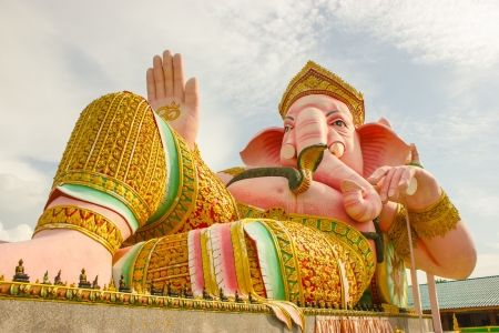 sanskrit: Ganesha  Sanskrit Stock Photo