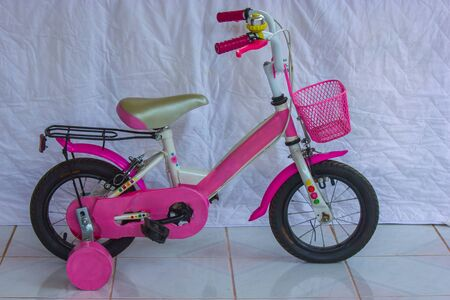 booting: Development of the bicycle as a child, and Consciousness booting rights of children  Stock Photo