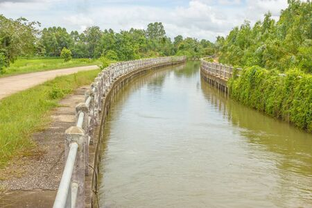waterway: Waterway for agriculture  Stock Photo