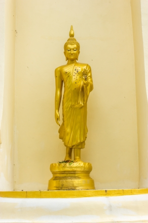 Buddhst statue in the Sai Mai temiple Sa Kaeo Province  of Thailand  photo