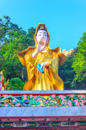 Guan Yin is holy god in the Kao Sam Mook Chinese shrine   In Chon Bu Ri Province of Thailand photo