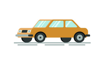 Flat car vector illustration.