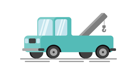 Towing truck flat vector illustration