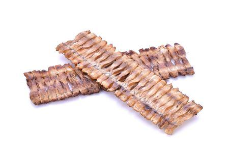 white back ground: small dried fish on white back ground Stock Photo