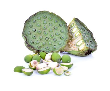 seedpod: Freshness Lotus seed and pod isolated on white background Stock Photo