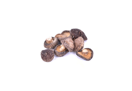 Dry Shiitake Mushroom on white background