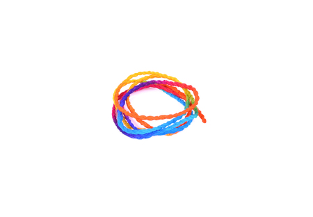 unwound: paper rope on a white background
