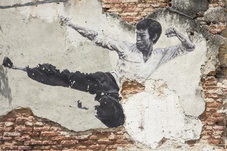 penang: Wall painting Penang Malaysia