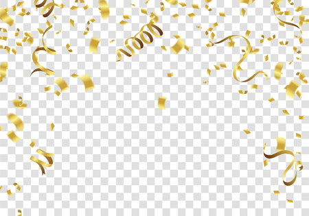 Abstract background gold confetti. vector background Celebration Vector illustration.
