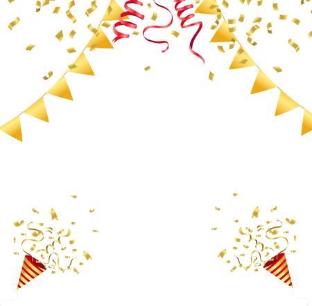 Confetti celebration vector illustration.