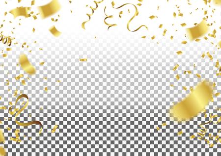 Konfetti fallen auf den Hintergrund. Vektor-Illustration.