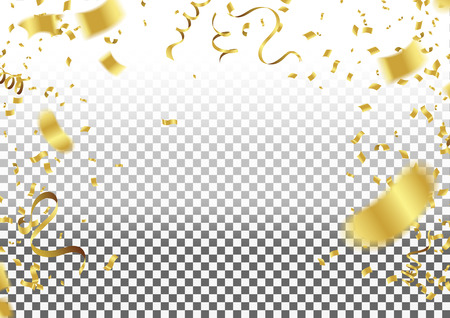 Confetti Falling On Background. Vector Illustration. element background for celebration decoration
