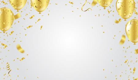 Abstrakter Hintergrundpartei-Feiergoldconfetti auf weißem Hintergrund. Weihnachtsgruß-Konzept.