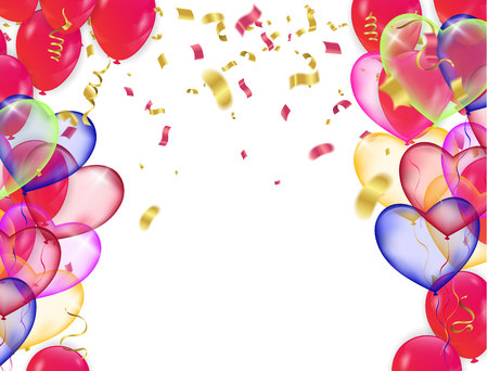 Many Falling Colorful Tiny Confetti And Ribbon Isolated On Transparent Background. Vector Vectores