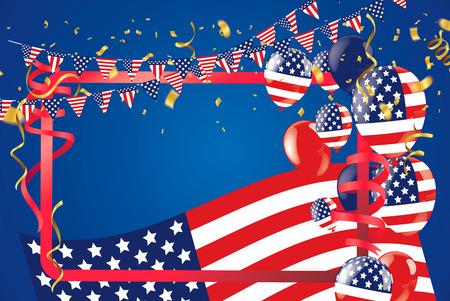 Memorial Day sale Happy Memorial Day Background. USA Flag Banner with Copy Space. Vector illustration Vectores