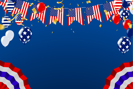 Memorial Day Remember and honor with USA flag, Vector illustration.Memorial Happy Background. Flag Banner