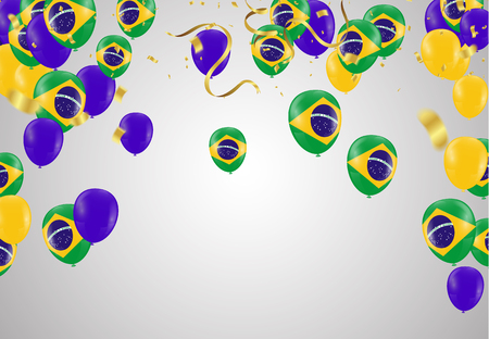 Festival Celebrated Brazilian Colorful Celebration Brazilian Birthday Concept Colorful Birthday Background Colorful Balloon template. victory.winner