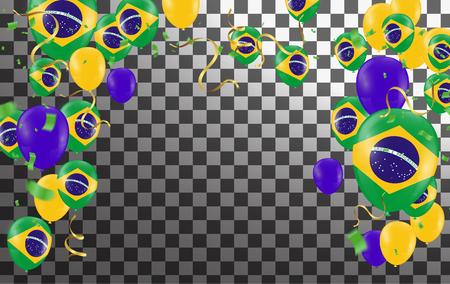 Festival Celebrated Brazilian Colorful Celebration Brazilian Hang bunting for Brazil celebration template banner. vector