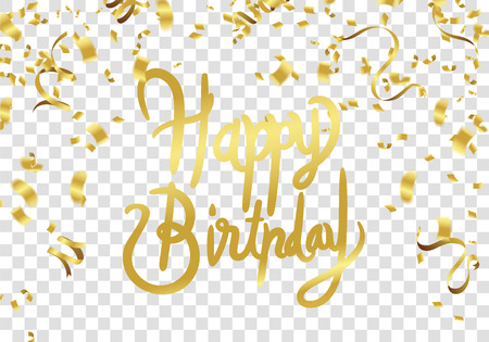 Happy birthday vector Celebration party print design. Handwritten modern brush lettering white background isolated vector