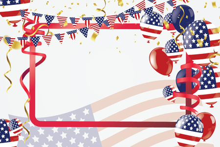 Labor day sale promotion advertising banner template. American labor day wallpaper.voucher discount Illustration