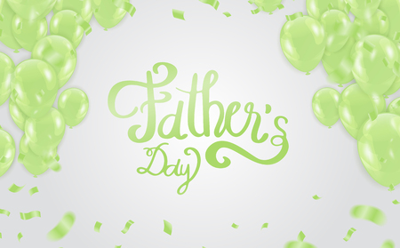 father's day background, Happy Day Typography for greeting card, festive poster etc. Hand lettering illustration on white background  イラスト・ベクター素材