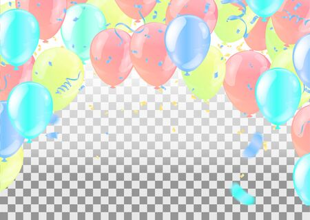 Balloons Flying on Background, Ideal for Displaying Your Wedding, Birthday, Celebration or Holiday