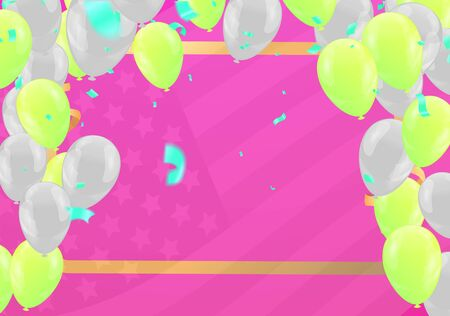 Balloons concept design template holiday Illustration